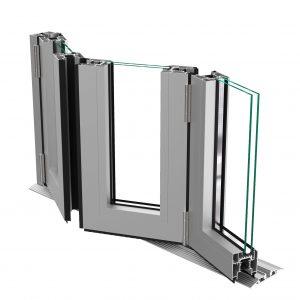 三扇aliplast 折叠门