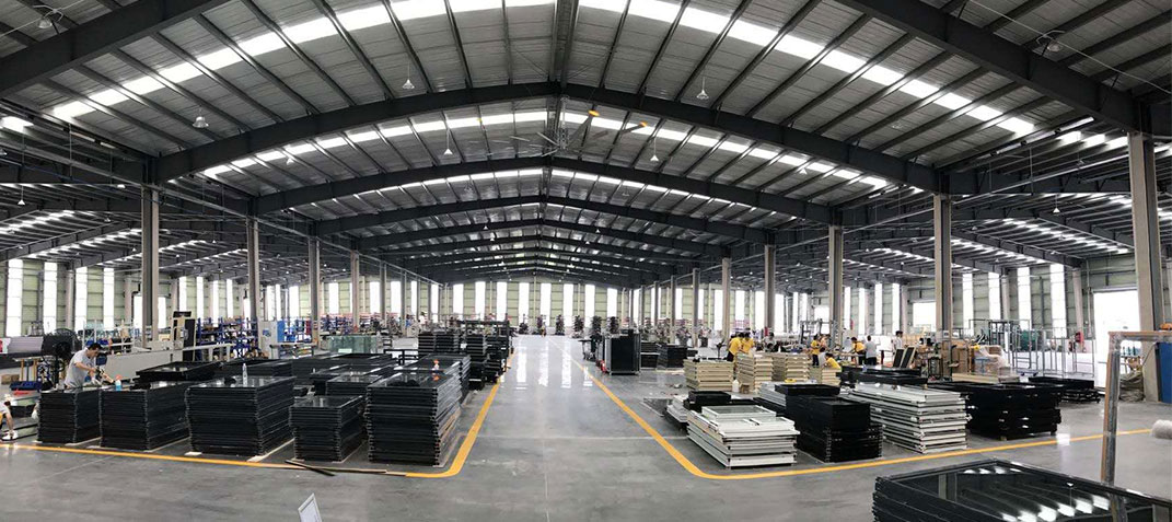 aluminium doors windows factory