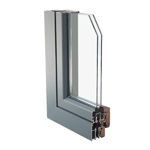 alum clad wood window section-2
